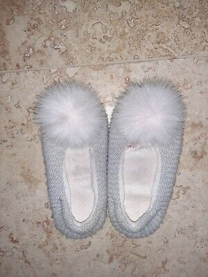 Little White Company Girls Slippers Size 12-13