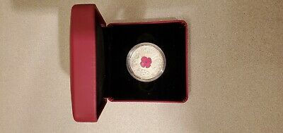 2019 $20 Canada 1Oz Silver Proof Murano Glass Poppy Lest We Forget