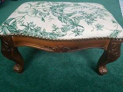Antique Victorian Style  Beautiful Leg Design Rectangular Low Foot Stool