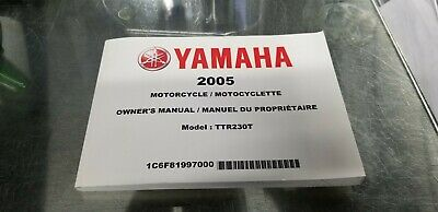 2005 Yamaha Ttr 230 Owner's Manual English And French 1C6-F8199-70-00