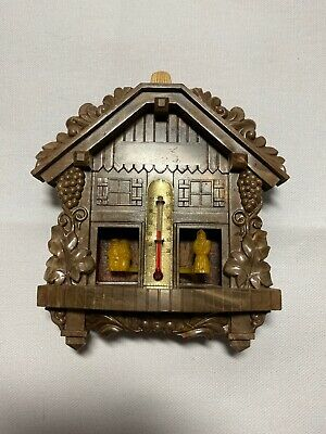 Vintage German Weather House With Thermometer Cuckoo Clock Style A3