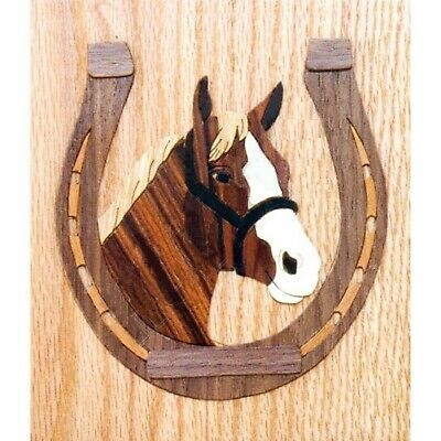 Horse's Head Marquetry Kit, Wood Fretwork Picture Craft Kit
