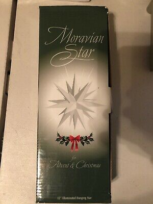 Elf Logic Moravian Star Tree Topper Beautiful Bright White 3D 12 Inch Christmas