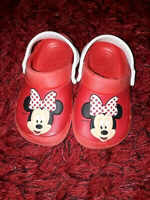 Disney® Minnie Mouse Girls Sandals Clogs Beach Shoes UK Size 8