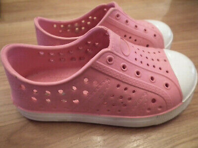 Girl Slip On Summer Beach Sandals Flat Pink Jelly Shoes size: 7 (90)