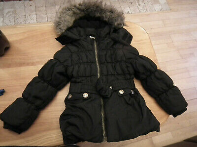 Girl Winter Coat, Jacket with hood, Black, Sweet Millie, size: 3 years (407)