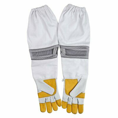 Beekeeping Bee Gloves Cow Hide Ventilated  Heavy Duty Gloves