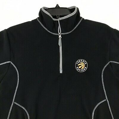 Antigua Toronto Raptors NBA Mens 1/4 Zip Fleece Jacket Size M Black