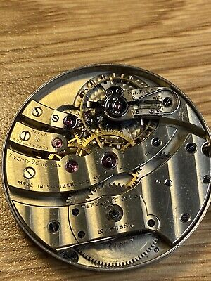 High Grade Ed Koehn 20-21J 38mm Made For Tiffany Pocket Watch