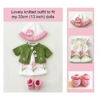 Dolls Clothes Knitting Pattern Doll Outfit Knitting Pattern Jacket Dress Shoes