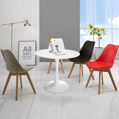 """32"""" Round Pedestal Table in White ,Tulip Design Coffee Table Dining Table"""