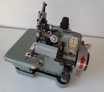 Kohler 81K6 industrial overlock sewing machine with motor and pedal