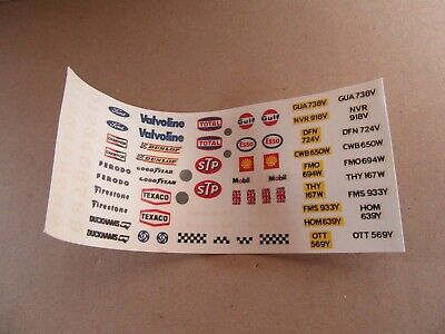 974L 1980'S Scalextric 1/32 Planche Decal Racing Stickers Slot