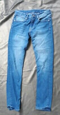 New H&M Skinny Fit Blue Denim Jeans Adjustable Waistband -Boys 11-12yrs