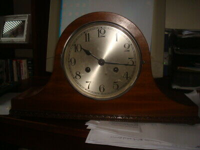 Vintage mantel clock needs servicing/tlc, all parts seem to be there.Look at pho