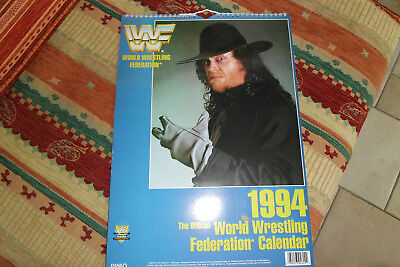SAMMLERSTÜCK-RARITÄT: World Wrestling Federation WWF Superstars 1994 Kalender