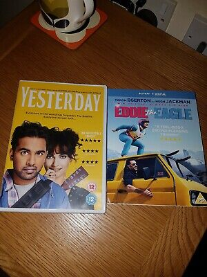 Yesterday and eddie the eagle DVD used once