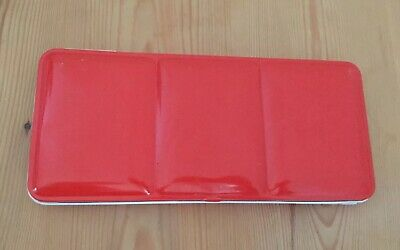 Windsor And Newton Watercolour Red Metal Paint Box Tin