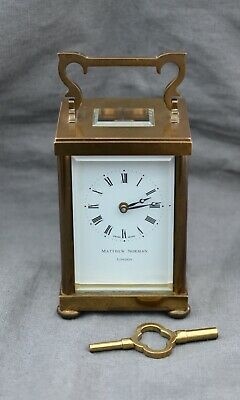 Heavy Top Quality Brass Carriage Clock - Cleaned/Oiled