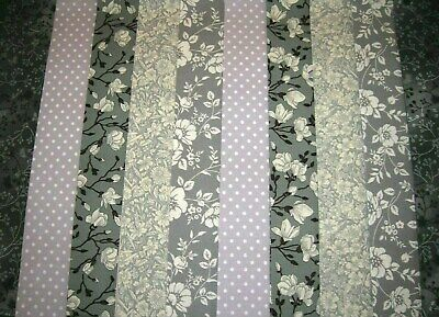 """**Clearance**10 Jelly Roll Strips Grey  44"""" X 2.5""""  100% Cotton  Cle"""