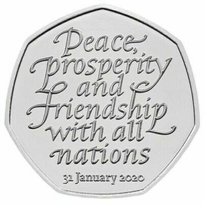 2020 OFFICIAL UK BREXIT 50p COIN FIFTY PENCE IN STOCK RELEASED 31ST JANUARY
