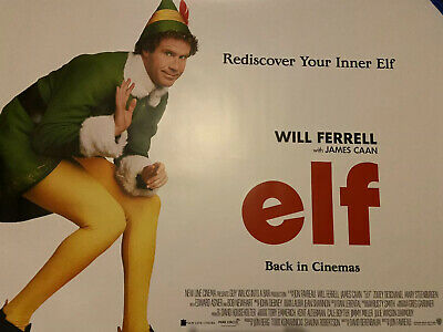 Elf Rerelease 2019 Uk Cinema Quad Poster Will Ferrell James Cann