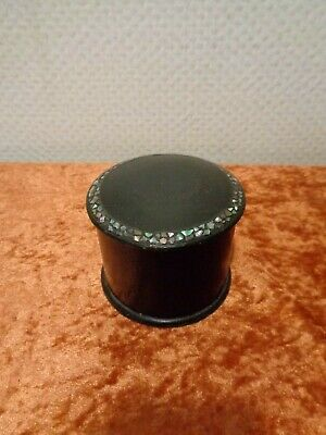 Antique Lacquer Box with Mother of Pearl Inlay - Vintage