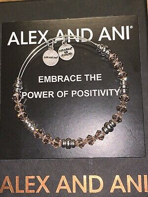 Alex and Ani Pink Rouge Swarovski Crystal Beaded Silver FINISH Bracelet New Tags
