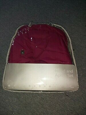 Silver cross Wayfayer/pioneer hood and apron set raspberry
