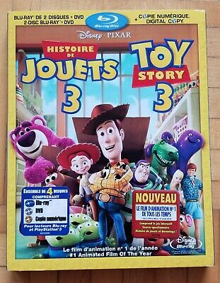 Toy Story 3 (Blu-ray/DVD, 2010, 4-Disc Set) Canadian bilingual packaging *NEW*