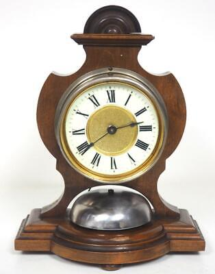 Antique HAC Mahogany Mantel Clock 8 Day Large Bell Striking Clock C1900 Working