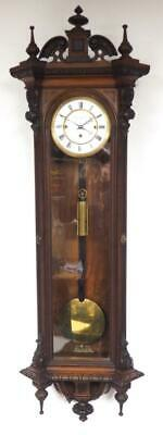 Biedermeier Wall Clock 8Day Vienna Regulator Wall Clock C1830 Carved Glazed Case