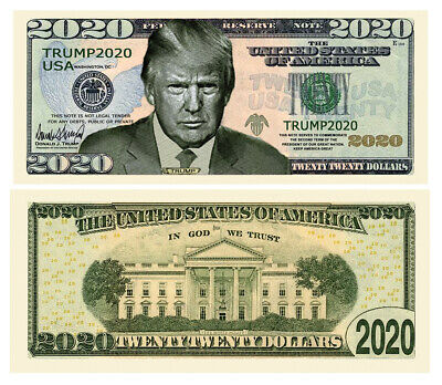 50 Donald Trump 2020 For President Campaign Serious Business Dollar Bill Lot