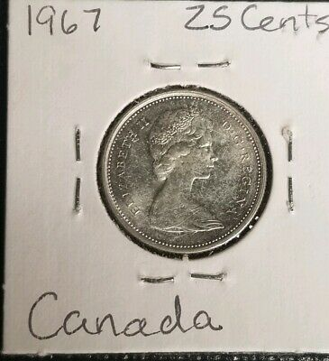 1967 CANADIAN SILVER QUARTER UNCIRCULATED COIN CENTENNIAL Canadian Coin Sale