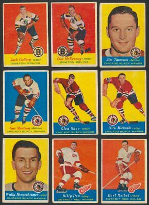 1957-58 Topps NHL Hockey Cards  U-Pick Choose Single Cards to Complete Your Set