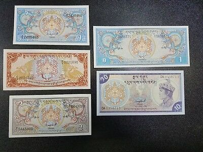 Lot Of 5 Banknotes Of Bhutan ~Better Grade~ #16