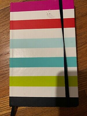 "Kate Spade New York ""Take Note""  Large Notebook Journal Candy Stripe Gift New"