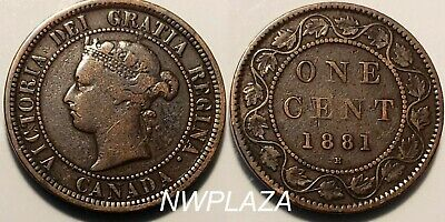 1881 Canada One Cent Large Penny  #Vpn22C