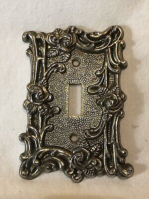 VTG American Tack & Hardware Ornate Wall Metal Single Switch Plate Cover #60T
