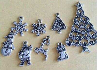 Christmas Charms Silver-tone Bulk Card-Making, Scrapbooking, Jewellery Lot3