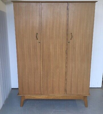Mid Century Retro Alfred Cox for AC Handcraft Heals Walnut Wardrobe