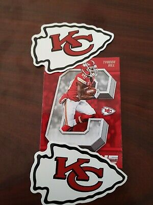 2 of Kansas City Chiefs themed Car Decal Sticker quality NFL collectable