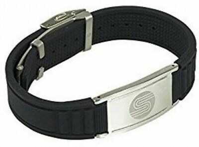 Satori 4 in 1 Negative Ion Band Germanium Silicone,Charged Therapy Bracelet Blck