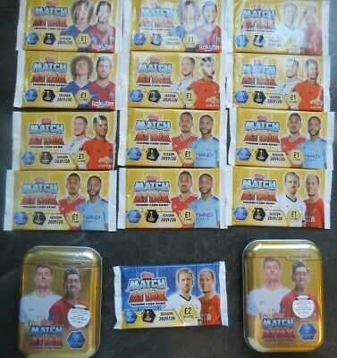 Topps Match Attax Trading Cards 2019/20 Season Collectors Tins + Packs Bundle