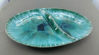 Blue Mountain Pottery Double Divided Serving Dish