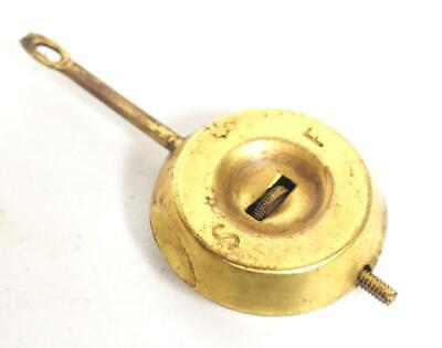 Antique American Ansonia Pendulum Bob For Mantel Clock Spare 8cm diameter c1900