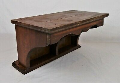 Antique Architectural Salvage Wood Wall Sconce Shelf Scroll Cut