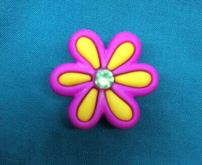 Cute Spring Pink & Yellow DAISY Daisies Flower Croc Hole Accessories Shoe Charm