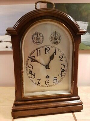 Antique 19th Century Mahogany Cased Chiming Bracket Clock