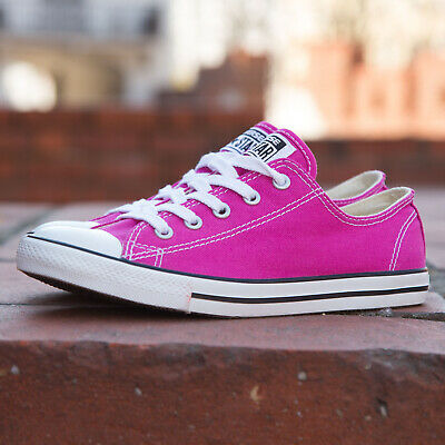 Ladies Pink Converse All Star Chuck Taylor Womens Girls Trainers Shoes Size